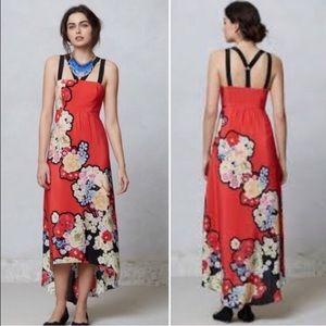 Anthropologie Liefsdottir Picolina Red Silk Dress